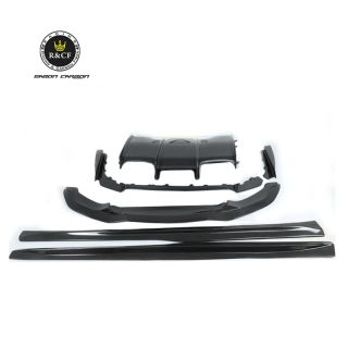 F80 F82 F83 Body kit PM style Carbon Fiber Front LIp Side Skirts Rear Diffuser Undertray For BMW F8X M3 M4 15-18