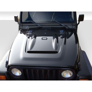 1997-GM Jeep Wrangler Duraflex Body Kits Heat Reduction Hood (fits all models without highline fenders) - 1 Piece -- 112018