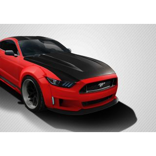 2015-Ford Motors  Mustang Carbon Creations Cowl Hood - 1 Piece -- 112583